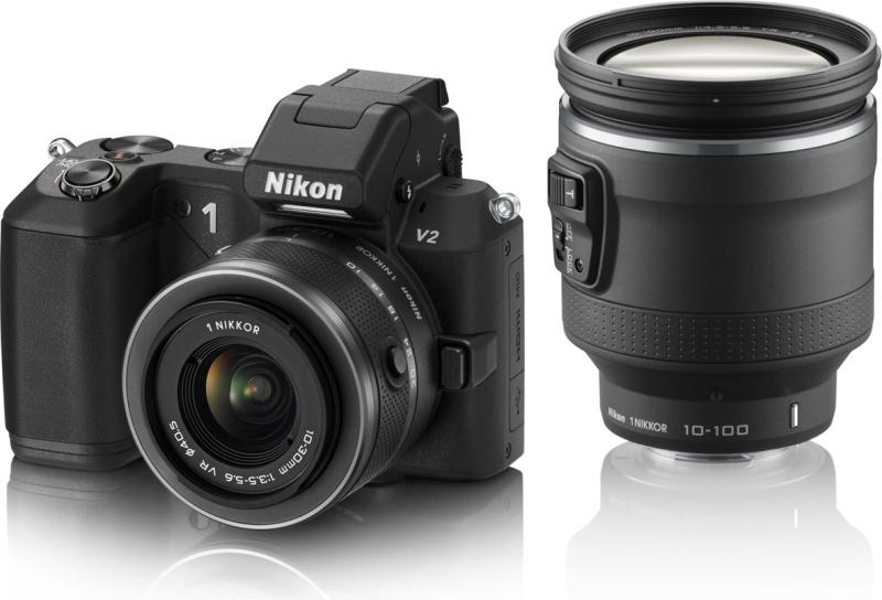 Nikon 1 V2 ハイパーダブルズームキット [ブラック]