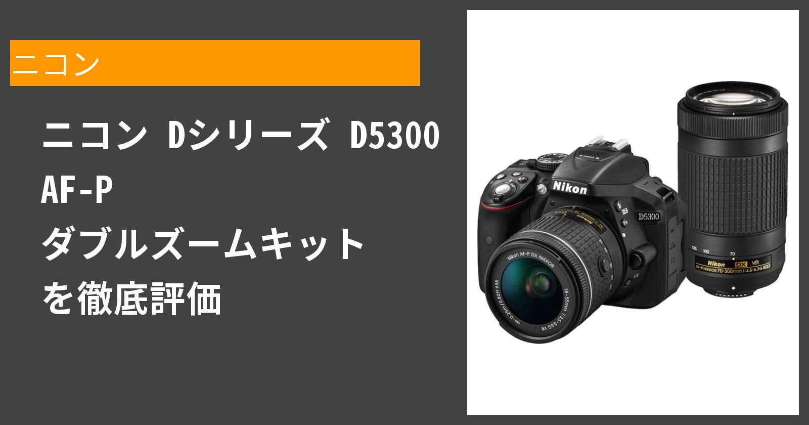 D5300 AF-P ダブルズームキットを徹底評価