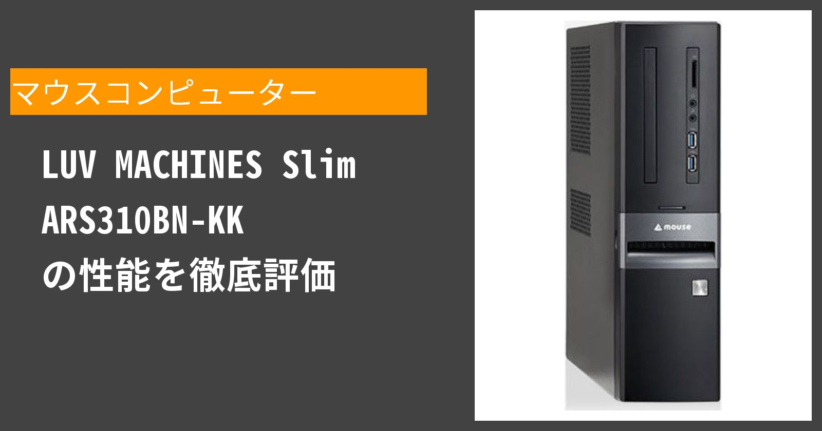 LUV MACHINES Slim ARS310BN-KK の性能を徹底評価
