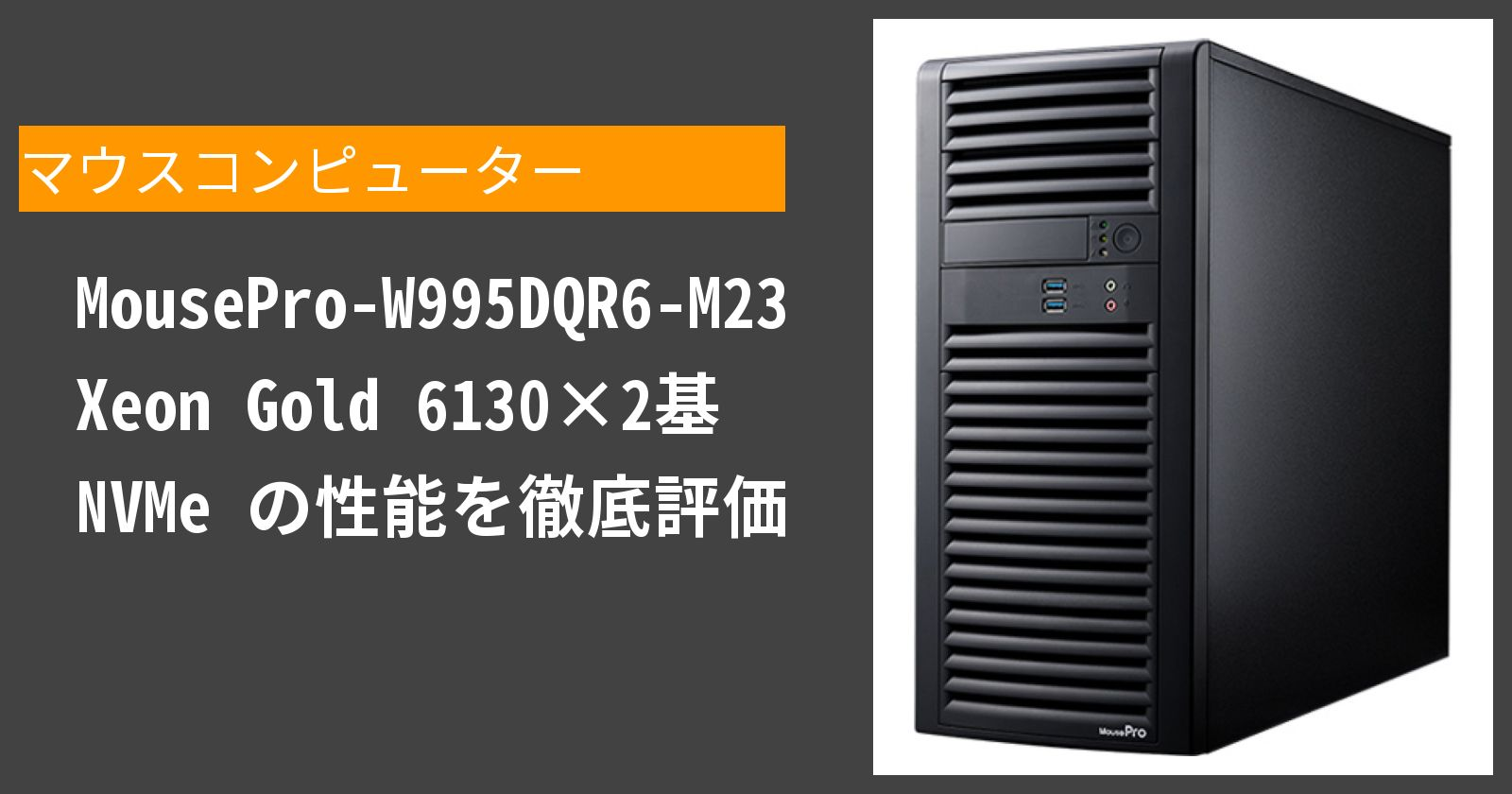 MousePro-W995DQR6-M23 Xeon Gold 6130×2基 NVMe の性能を徹底評価