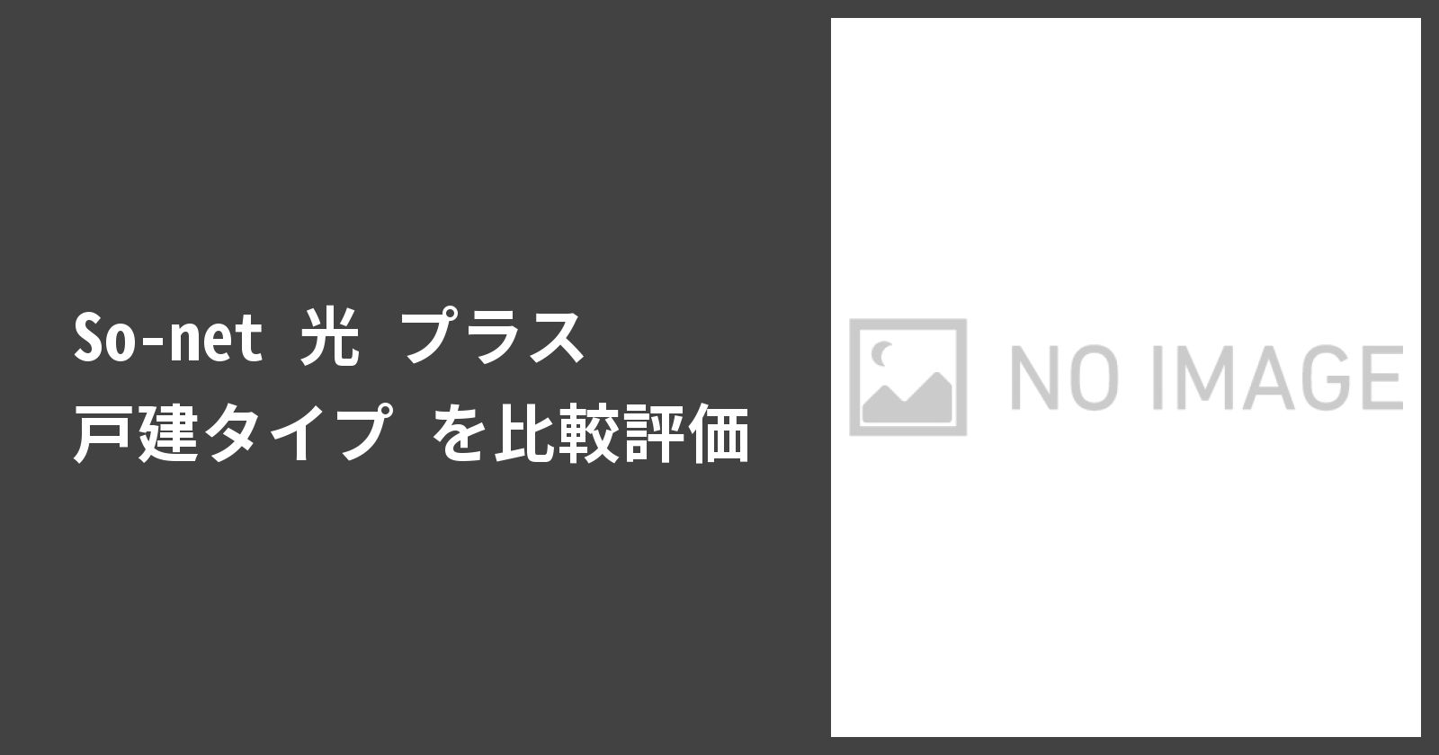 So-net 光 プラス 戸建タイプを徹底評価